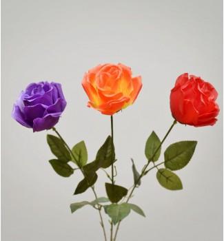 Роза одиночная искусственная