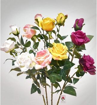 Розы ветка декор, 3 головки