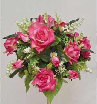 Розы открытые с бутонами на подставке