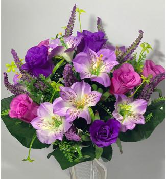 Розы и альстромерии, 16 головок