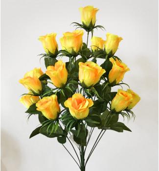 Розы атласные в бутонах, букет 18 головок