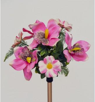 Орхидея с космеей, букет 7 головок