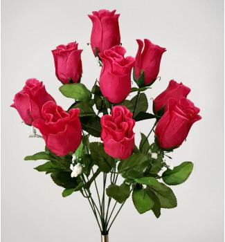 Розы с кашкой, букет 10 головок