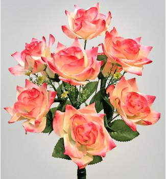 Розы открытые остролепестковые, букет 9 головок