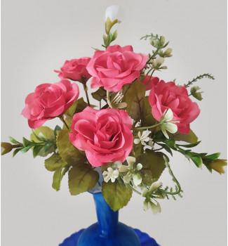 Розочка с мелкоцветом, букет 6 головок