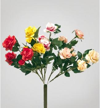 Розы ветка, декор, 5 головок