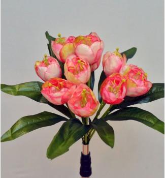 Тюльпаны искусственные, букет 11 головок